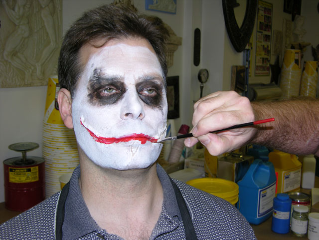 Как нарисовать маску джокера на лице красками поэтапно 130